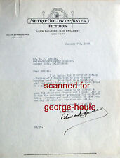 EDWARD BOWES - LETTER - AUTOGRAPH - 1929  - RADIO PERSONALITY - GARDEN OF ALLAH
