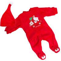 Completo Bambino neonato 3 pezzi pantaloni Natale cappello ciniglia DJ-896