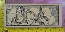 THREE SISTERS by JUDIKINS 2285 H women dove flowers Art Deco rubber stamp #2985