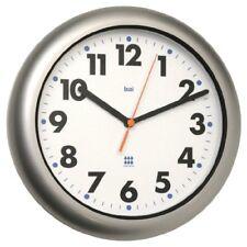 ❤ Silent Wall Clock Bai Aquamaster Weatherproof Silver Quartz Home Room