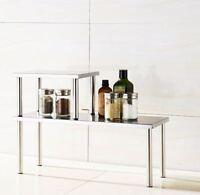 Counter Storage Shelf Rack Kitchen Spices Tea Coffee Organizer Countertop 2 Tier