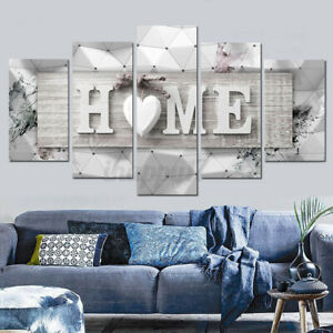 5 Pcs Modern Art Oil Painting Canvas Print Wall Art Picture Home Unframe
