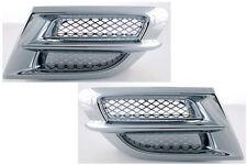 Chrome Side Fairing Accents w/Mesh Inserts - GL1800 Honda Goldwing (45-1629NUB)