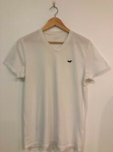 Hollister White T Shirt Size Small Mens Top Short Sleeve Tee S Beach Party Rave