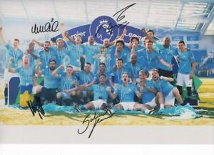 Signed Photo Manchester City FC - Sergio Agüero, Jesus, Walker, Gündoğan. Proof