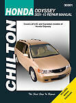 SHOP MANUAL ODYSSEY SERVICE REPAIR HONDA BOOK CHILTON 30301