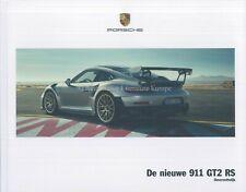 2018 PORCHE 911 GT2 RS HARDCOVER PROSPEKT CATALOG DEPLIANT NIEDERLÄNDISCH RAR