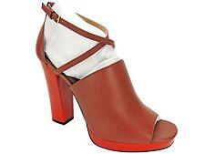 Calvin Klein Women's Baida Strappy Platform Sandals Brandy Brown Red Size 9 M