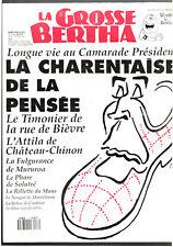 LA GROSSE BERTHA n°17 ¤ 1991 ¤ MITTERAND / CABU / TIGNOUS / HONORE