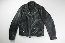 Schott Perfecto Vintage Mens Black Leather Motorcycle Jacket Size 38