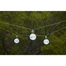 10-Light 12' Clear Crackle Glass Ball Integrated LED String Light by Hampton Bay