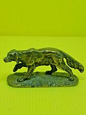 Joli ancien chien de chasse, épagneul, en bronze