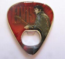 Elvis Presley  Bottle Opener/Magnet  Guitar Pick Shaped-picture of Elvis- red