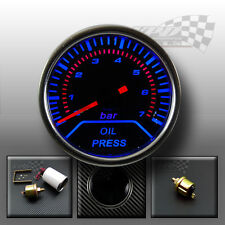 "Oil pressure gauge 2"" 52mm smoked dial face interior dash custom lighting"