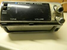 Vintage Under Dash Car Stereo 8 Track Player Sanyo Model Ft865 Audio Untested