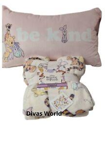 Disney Winnie The Pooh Soft Fleece Throw & Cushion Home Bedding Decor PRIMARK