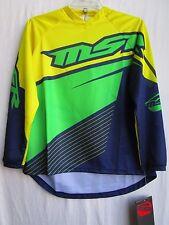 MSR YOUTH motocross jersey AXXIS BUGNYW sz EXTRA LARGE 352314 yel/grn/blu