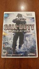 Call of Duty: World at War (Nintendo Wii 2008) NEAR MINT W/MANUAL! NO SCRATCHES