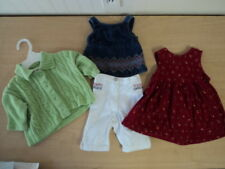 LOT OF 3 GYMBOREE GIRLS SIZE 0-3 & 3-6 MONTHS OUTFIT, DRESS, SWEATER - CUTE!