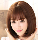 FIXSF477 fine style short natural medium brown BOB wig Hair wig Wigs for women