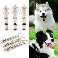 Adjustable Steel Sliver/Gold Pet Dog Training Whistle Obedience Gift