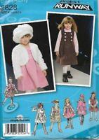Project Runway Girls Dress Jumper Jacket Hat S-M-L Simplicity 2828 Uncut
