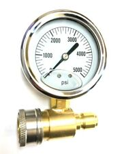 "Pk-Qcg-5000 2.5"" 5000 Psi Pressure Gauge Kit Pressure Washer Accessory V-Atg001"