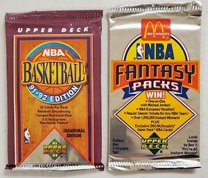 1991-92 & 1992-93 Upper Deck Basketball Lot of 2 (Two) Sealed Unopened Packs*