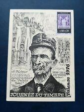 Q524. France. Premier jour 1976. Journée du timbre, Facteur Cheval