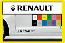 FOR RENAULT 2 X Door body panel car Décalque Sticker Fits clio megane captur etc