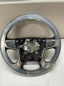 2015-2020 GMC Sierra 2500 3500 HD Steering Wheel Heated Black OEM 84222935
