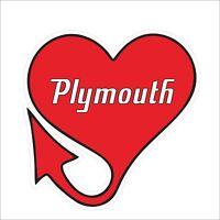 3M Graphics Plymouth Red Heart Cute Vinyl Truck Car Window Helmet Sticker Decals