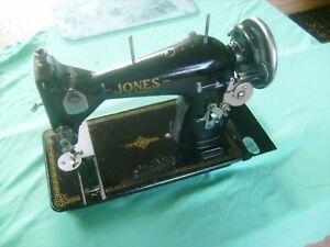 "ANTIQUE JONES SEWING MACHINE ""Excellent Condition and Order,Pre-War Piece"