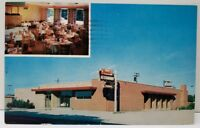 Highland Indiana Brant's Restaurant and Motel 1950s Postcard E8