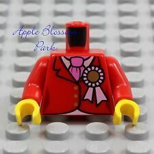 NEW Lego Female Girl MINIFIG TORSO -Red Suit Jacket Coat w/Pink Ribbon Tie Scarf