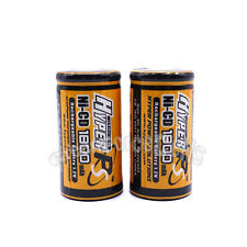 2 pcs SubC Sub C 1.2V 1800mAh NiCD Rechargeable Battery Cell Flat Top HyperPS