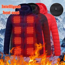 Mens Electric Vest Heated Jacket Coat USB Heating Pad Protect Body Winter Warm .