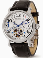 SEA-GULL 40MM AUTOMATIC RETROGRADE WATCH WITH SAPPHIRE CRYSTAL