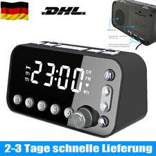 Funk DAB+ Radiowecker Tischuhr FM UKW Uhrenradio 2x Alarm 2USB LED Projektion 1+