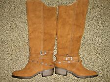 NWTS * MUDD * WOMENS sz 6 BROWN SUEDE fashion western  RIDING BOOTS Shoes
