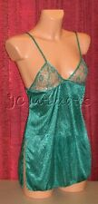 Lingerie-Sexy Lace Cup Baby Doll Set-Green(XS)