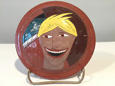 David Stabely Ceramics Studio Pottery Covered Faces Bowl Signed