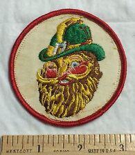 Irish Leprechaun with Beard Head Logo Round Patch