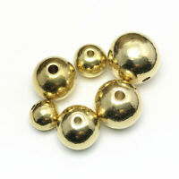 Solid Brass Round Loose Metal Beads Gold 4mm 5mm 6mm 8mm 10mm 12m hot