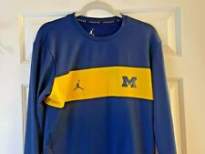 Nike Air University of Michigan Spirit Wear Blue Long Sleeve Size M Christmas