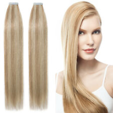 """Russian Tape In Full Head 100% Remy Human Hair Extensions THICK 16""""-22"""" US P310"""