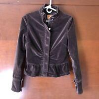 Anthropologie Twill Twenty Two Women's Brown Velvet Jacket Size M