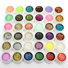 36 Mix Colors Fine Glitter UV GEL Builder Glue for Nail Art Tips Manicure Decor