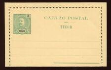 Timor - 1903 - Postal Stationery - 3 Avos Letter Card - H&G A1