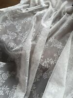 """JOHN LEWIS PAIR OF OFF WHITE NET CURTAINS VICTORIAN STYLE 59"""" x 89.5 DROP EACH"""